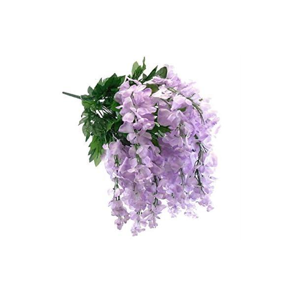"""JumpingLight Lavender Wisteria Bush Artificial Silk Flowers 30"""" Bouquet 24-6091LV Artificial Flowers Wedding Party Centerpieces Arrangements Bouquets Supplies"""