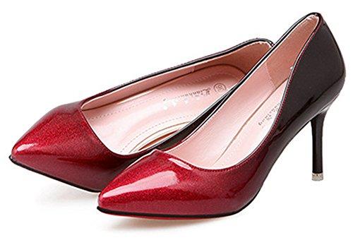 Showhow Womens Dressy Slip On Slip On Vino Rosso Vino