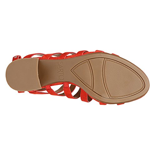 Womens Lux Finesse Pop Sarto Red Suede Franco Brushed Bw8qPxqF