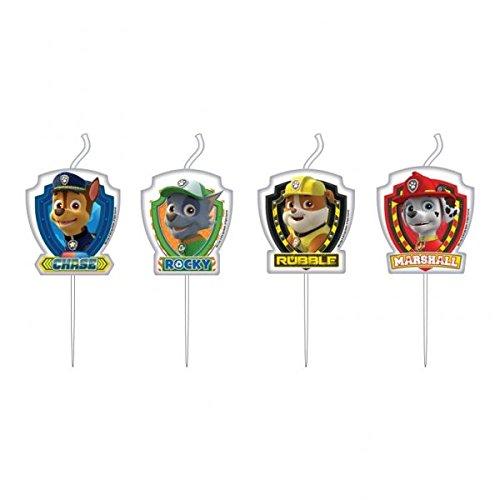 Amscan 4 Mini Figuren Kerzen Paw Patrol Kindergeburtstag Deko Party Geburtstag 999142 Fantasy-Charaktere