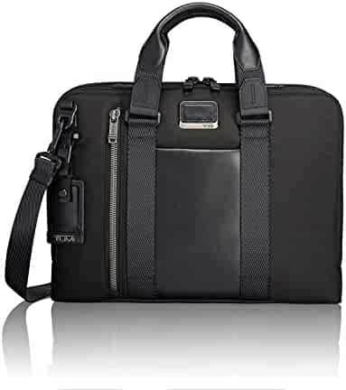 TUMI - Alpha Bravo Aviano Laptop Slim Brief Briefcase - 15 Inch Computer Bag for Men and Women - Black