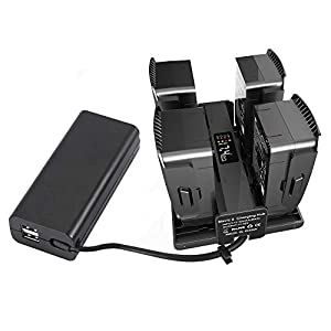 YUYOUG 4 in 1 Portable Smart Intelligent Battery Charger Battery Charging Hub Charge Management For DJI Mavic 2 Pro/Zoom Drone 41ovSkvsKOL