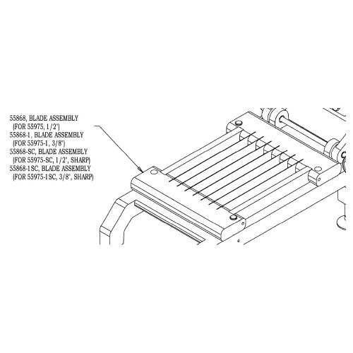 "NEMCO 55868-1SC 3/8"" Cut Easy Chicken Slicer Blade Set"