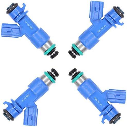 Fuel Injectors Set TUPARTS 4pcs 12Holes Fuel Injector Parts fit for 1990-2001 A-cura Integra 1996 1997 1998 1999 2000 2002 2003 2004 2005 H-onda Civic 2002-2006 A-cura RSX