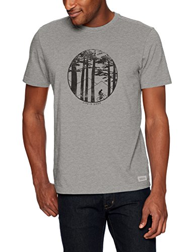 - Life is Good Mens Graphic T-Shirts Crusher Collection,Mountain Bike,Heather Gray,XXX-Large