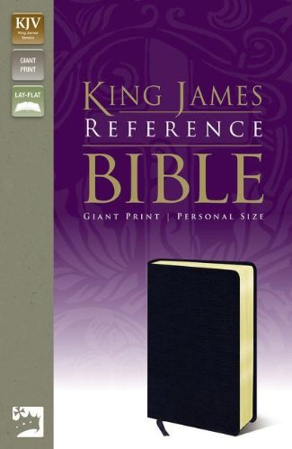 KJV, Reference Bible, Giant Print, Personal Size, Bonded Leather, Navy, Red Letter Edition