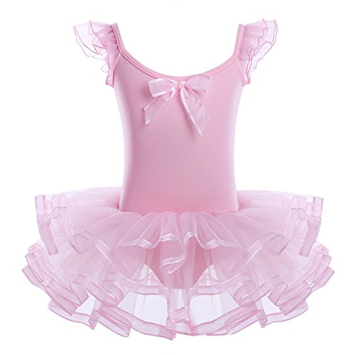 YiZYiF Girl's Kids Ballet Costume Tutu Leotards Dance Skate Dress Outfits (2-3(Shoulder to crotch 17.0