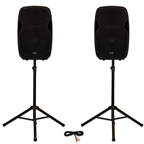 "Acoustic Audio AA15BT Powered 2000 Watts 15"" Bluetooth Speak"