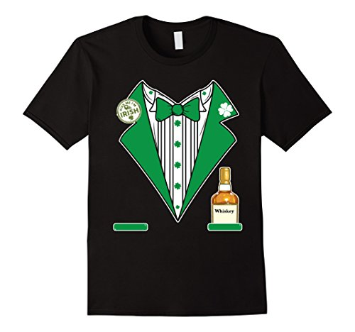 St. Patricks Day Tux Whiskey Shirt Green Pattys Day Costume