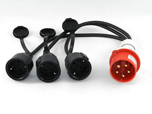 41ovUlkOpTL solartronics 91803 CEE Adapter Starkstrom 16A Stecker auf 3X 230 V Kupplung