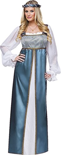 Lady Capulet Costumes (Fun World Lady Capulet Adult Costume Blue Medium)