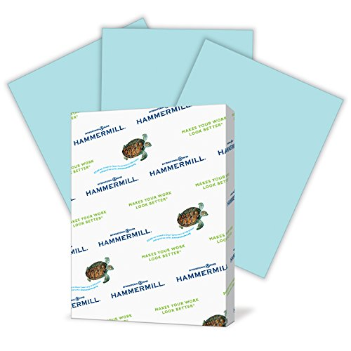 - Hammermill Colored Paper, Blue Printer Paper, 24lb, 8.5x11 Paper, Letter Size, 500 Sheets / 1 Ream, Pastel Paper, Colorful Paper (103671R)