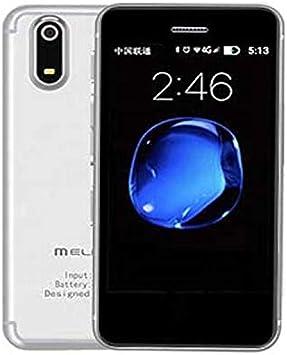 JJA BROS Ultra Think Melrose S9X Quad Core 1GB RAM + 8GB ROM 2.5 Pulgadas 4G, LTE Android 6.0 Pocket Tarjeta de crédito Plástico Super Mini Smartphone Teléfono móvil (Plata): Amazon.es: Electrónica