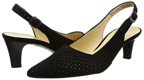 Col Gabor Con Tacco T Donna Fashion schwarz Cinturino 17 A Nero Scarpe qEIrFwE