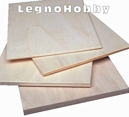 Rough Poplar Plywood, Thickness: 4 mm, Set of 10 Pieces – 39 5 x 20