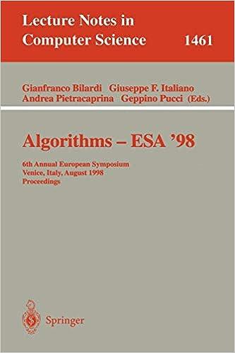 Algorithms — ESA' 98: 6th Annual European Symposium Venice, Italy, August 24–26, 1998 Proceedings