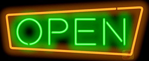 Retro Style Open Neon Sign by Jantec Sign Group