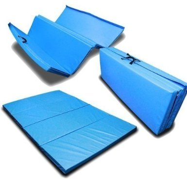 New 4'x8'x2'' Gymnastics Gym Folding Exercise Aerobics Stretching Yoga Mats Blue by MTN Gearsmith (Image #1)