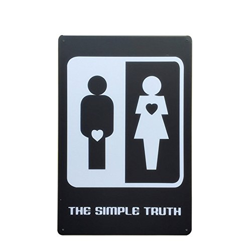 The Simple Truth Metal Sign Tin Signs Retro Shabby Wall Plaque Metal Poster Plate 20x30cm Wall Art Coffee Shop Pub Bar Home Hotel Decor