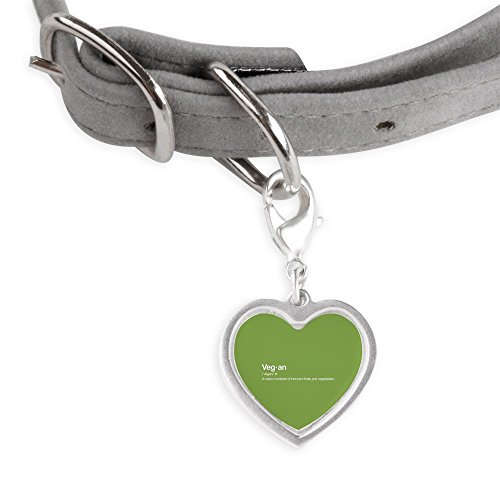 CafePress Vegan Definition - Small Heart Pet Tag by CafePress