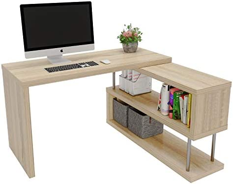 Bestier Rotating L Shaped Computer Desk