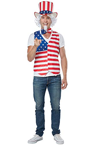 California Costumes Men's Patriot Man Kit Adult Woman Costume, red/Blue/White, Large/XLarge]()