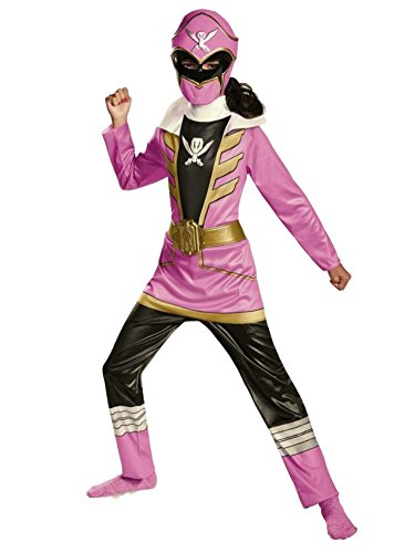 Pink Ranger Super Megaforce Girls Costumes (Power Rangers Super Megaforce Girls Pink Ranger Costume with Mask)
