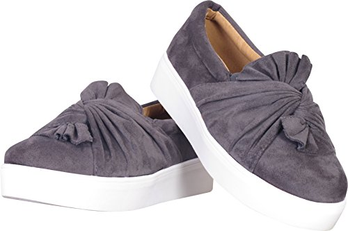 Catherine Malandrino Kvinna Knutna Slip-on Mode Sneakers Grå Mocka
