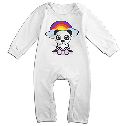 Toddler Catwoman Romper Costumes (VanillaBubble Rainbow Panda For 6-24 Months Baby Awesome Tshirt White Size 24 Months)