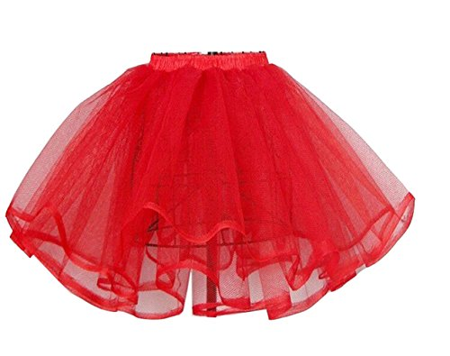 Snow Lotus Women's Ballet Petticoat (Red Adult Tutu)