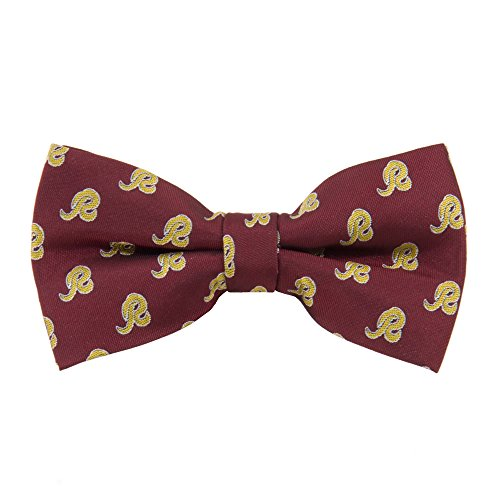 NFL Washington Redskins Men's Woven Polyester Repeat Bowtie, One Size, Multicolor