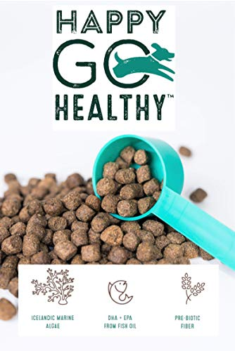 HAPPY GO HEALTHY Superior Coat-Joint-Digestion Dog Supplement Softer Coat Skin Stop Pain and Restore Joints Build Healthy Digestion Wild Alaskan Salmon Fish Oil Grain Free Bacon Flavored
