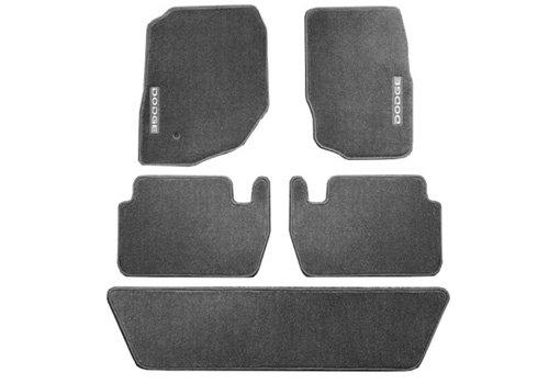 Same as Production 28 oz Mopar 82209013AB Slate Gray Polypropylene Carpet Floor Third Row One Piece Mat