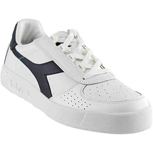 Diadora B. Elite Tennis Shoe,White/Blue Denim/Blue Denim,11 M US