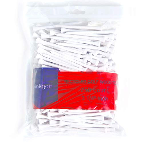 (Olinkgolf Premium Sturdy White color Wood Tees 3 1/4