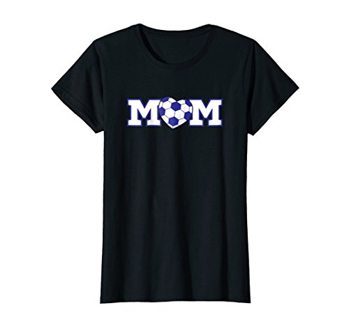 Womens Soccer Mom T Shirt Heart Shaped Soccer