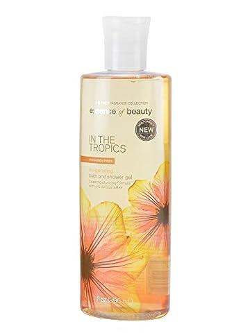 Essence of Beauty Bath and shower Gel, 10fl oz (296 ml) Deep Moisturizing formula with a luxurious lather (In the Tropics)