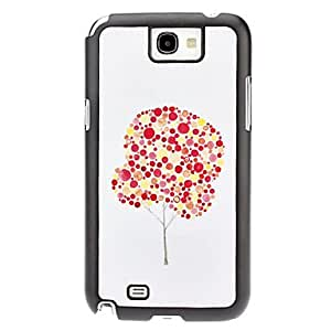 hao Red Tree Pattern Hard Case for Samsung Galaxy Note 2 N7100