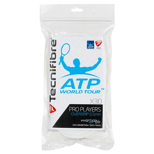 Tecnifibre ATP Pro Players Overgrip 30 Pack White ()