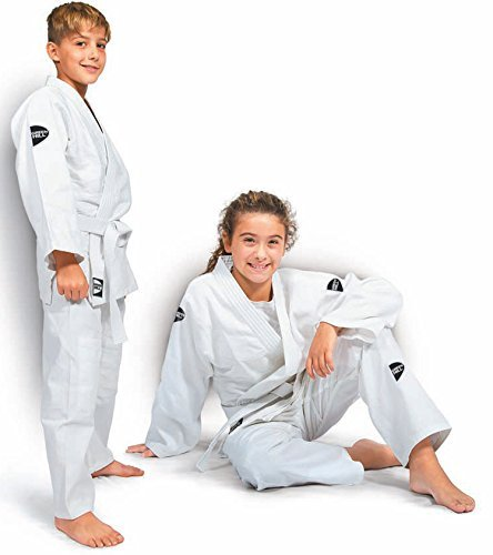 Green Hill Junior Traje de judo para niños, Kimono Gi, color Weiss ...