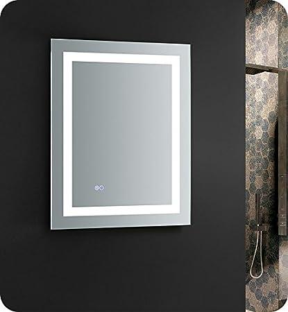 bathroom mirrors with led lights. Fresca Santo 24\u0026quot; Wide X 30\u0026quot; Tall Bathroom Mirror W/LED Lighting  And Bathroom Mirrors With Led Lights G