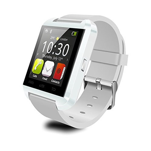 (Colofan Smartwatch Luxury U8 Bluetooth Smart Watch WristWatch Phone with Camera Touch Screen for IOS Iphone Android Smartphone Samsung Smartphone (white))