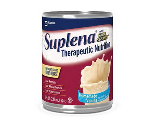 Suplena with Carb Steady Nutritional Supplement ( SUPLENA W/CARB STEADY, VAN, 8OZ CAN ) 24 Each / Case by Abbott Nutrition (Ross)