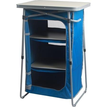 OZARK Trail 3-Shelf Collapsible Cabinet (Blue, 3-Shelf) (Depot Shelves Closet Home)
