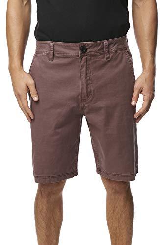 O'Neill Men's Standard Fit Stretch Chino Walk Short, 20 Inch Outseam (Peppercorn/Jay SU19, 32)