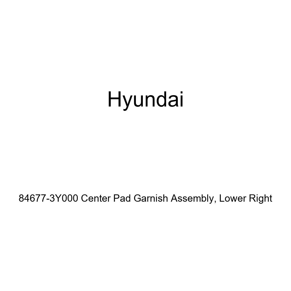 Lower Right Genuine Hyundai 84677-3Y000 Center Pad Garnish Assembly
