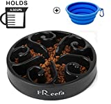 Slow Feeder Dog Bowl Bloat Stop Dog Food Bowl Maze Interactive Puzzle...