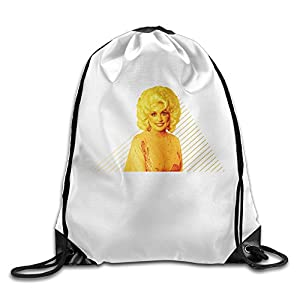 SAXON13 Unisex Funny Pure Singer Simple Drawstring Shoulder Bag