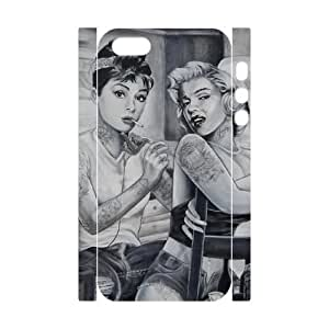 fashion case Audrey Hepburn Custom 3D Cover case cover for iphone 4s,diy cell phone case cover 1RV8xi2FEJQ