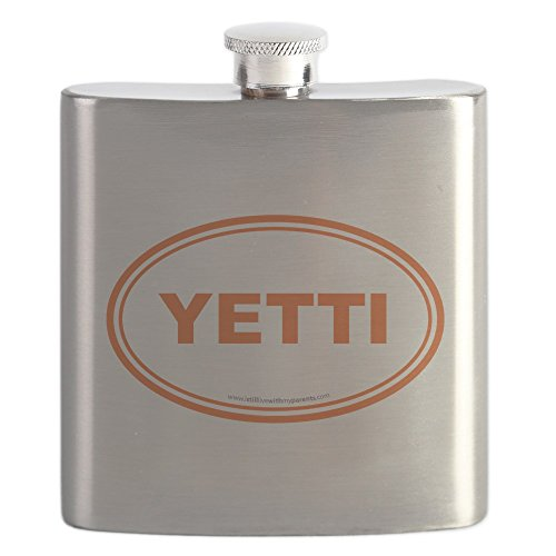 CafePress - YETTI EURO Oval, Sasquatch, Big Foot - Stainless Steel Flask, 6oz Drinking (Oval Stainless Steel Flask)